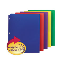 Smead® Poly Snap-In Two-Pocket Folder, 11 x 8.5, Assorted, 10/Pack
