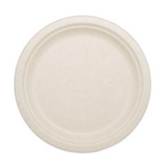 "World Centric® Fiber Plates, 9"", Natural, 1,000/Carton"