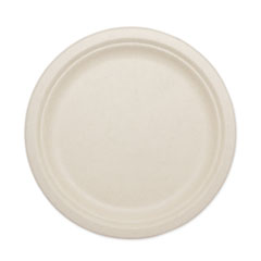 "World Centric® Fiber Plates, 10"", Natural, 800/Carton"