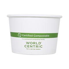 "World Centric® Paper Bowls, 3.5"" dia x 2.3"", 8 oz, White, 1,000/Carton"