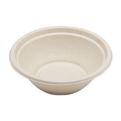 "World Centric® Fiber Bowls, 7.4"" dia x 2.3"", 24 oz, Natural, 500/Carton"