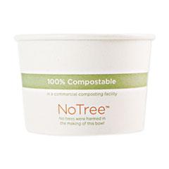 "World Centric® No Tree Paper Bowls, 4.4"" dia x 2.5"", 12 oz, Natural, 500/Carton"