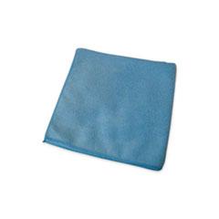 Impact® Premium Weight Microfiber Dry Cloths, 16 x 16, Blue, 12/Pack