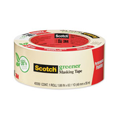 "Scotch® Greener Masking Tape 2050, 3"" Core, 1.88"" x 60 yds, Beige"