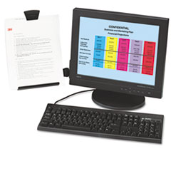 3M™ Clip Copyholder, Flat Panel Monitor Mount, Plastic, Holds 35 Sheets, Black/Clear