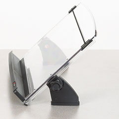3M™ In-Line Adjustable Desktop Copyholder, Plastic, 150 Sheet Capacity, Black/Clear