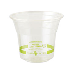 World Centric® Clear Cold Cups, 10 oz, Clear, 1,000/Carton