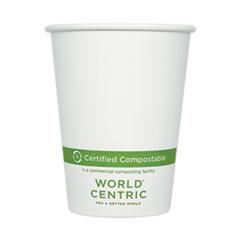 World Centric® Paper Hot Cups, 12 oz, White, 1,000/Carton