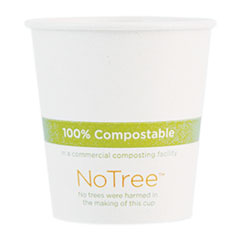 World Centric® NoTree Paper Hot Cups, 6 oz, Natural, 1,000/Carton