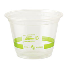 World Centric® Clear Cold Cups, 9 oz, Clear, 1,000/Carton