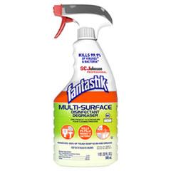 Fantastik® Multi-Surface Disinfectant Degreaser, Herbal, 32 oz Spray Bottle, 8/Carton