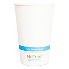 World Centric® NoTree Paper Cold Cups, 12 oz, Natural, 1,000/Carton