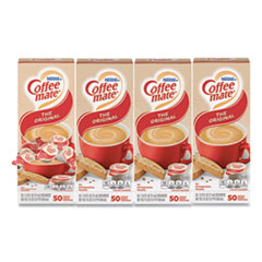 Coffee mate® Liquid Coffee Creamer, Original, 0.38 oz Mini Cups, 50/Box, 4 Boxes/Carton, 200 Total/Carton