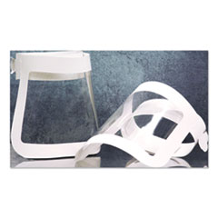 SCT® Face Shield, 20.5 to 26.13 x 10.69, One Size Fits All, White/Clear, 225/Carton