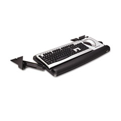 3M™ Adjustable Under Desk Keyboard Drawer, 27.3w x 16.8d, Black