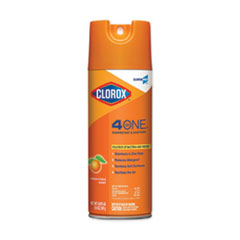 Clorox® 4-in-One Disinfectant and Sanitizer, Citrus, 14 oz Aerosol Spray
