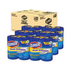 Clorox® Disinfecting Wipes w/Micro-Scrubbers, 7x8, Crisp Lemon, 70/Canister,2/PK,6 PK/CT