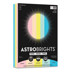 Astrobrights® Color Paper, 24 lb, 8.5 x 11, Assorted Colors, 500/Ream