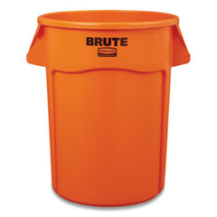 Rubbermaid® Commercial Brute Round Containers, 44 gal, Orange