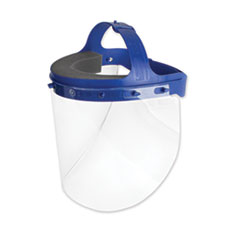 Suncast Commercial® Fully Assembled Full Length Face Shield with Head Gear, 16.5 x 10.25 x 11, 16/Carton