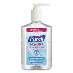 PURELL® Advanced Refreshing Gel Hand Sanitizer, Clean Scent, 8 oz Pump Bottle, 12/Carton