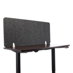 Lumeah Desk Screen Cubicle Panel and Office Partition Privacy Screen, 54.5 x 1 x 23.5, Polyester, Ash