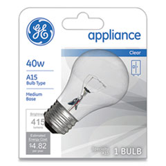 GE Incandescent A15 Light Bulb, 40 W, Clear