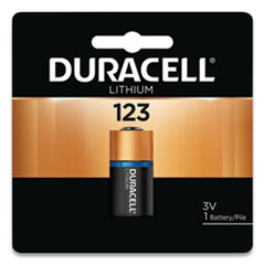 Duracell® Specialty High-Power Lithium Batteries, 123, 3 V, 6/Pack