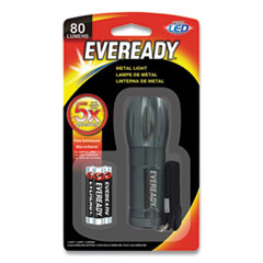 Eveready® Compact LED Metal Flashlight, 3 AAA (Included), Silver