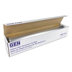 """GEN Heavy-Duty Aluminum Foil Roll, 18"""" x 500 ft, 4/Carton"""