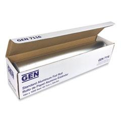 """GEN Standard Aluminum Foil Roll, 18"""" x 1,000 ft, 4/Carton"""