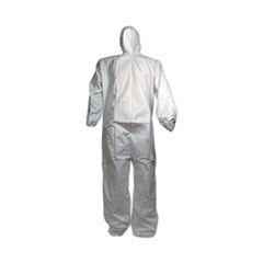 GN1 Breathable Puncture and Tear Resistant Disposable Coverall, X-Large, White, 25/Carton