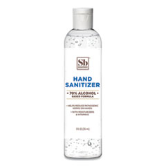 Soapbox Hand Sanitizer, 8 oz Bottle with Dispensing Cap, Unscented, 24/Carton