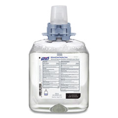 PURELL® Advanced Foam Hand Sanitizer, FMX-12, 550 mL Refill, Fragrance-Free, 4/Carton