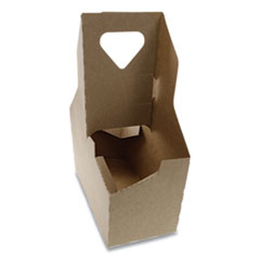 Pactiv Cup Carrier, Up to 44 oz, Two to Four Cups, 250/Carton