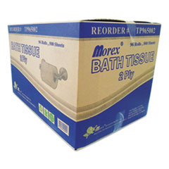 TEH TUNG Two-Ply Bath Tissue, Septic Safe, White, 500 Sheets/Roll, 96 Rolls/Carton