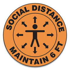 Accuform® Slip-Gard™ Social Distance Floor Signs