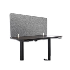 Lumeah Desk Screen Cubicle Panel and Office Partition Privacy Screen, 54.5 x 1 x 23.5, Polyester, Gray