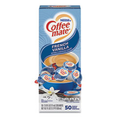 Coffee mate® Liquid Coffee Creamer, French Vanilla, 0.38 oz Mini Cups, 50/Box