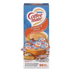 Coffee mate® Liquid Coffee Creamer, Pumpkin Spice, 0.38 oz Mini Cups, 50/Box
