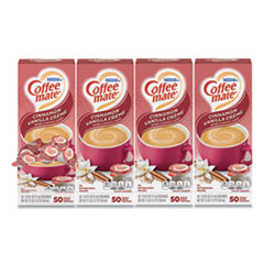 Coffee mate® Liquid Coffee Creamer, Cinnamon Vanilla, 0.38 oz Mini Cups, 50/Box, 4 Boxes/Carton, 200 Total/Carton