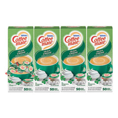 Coffee mate® Liquid Coffee Creamer, Irish Creme, 0.38 oz Mini Cups, 50/Box, 4 Boxes/Carton, 200 Total/Carton