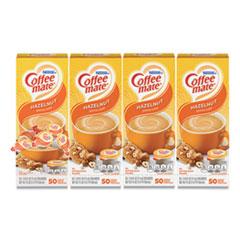 Coffee mate® Liquid Coffee Creamer, Hazelnut, 0.38 oz Mini Cups, 50/Box, 4 Boxes/Carton, 200 Total/Carton
