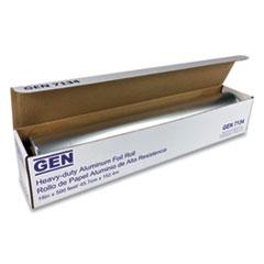 """GEN Heavy-Duty Aluminum Foil Roll, 18"""" x 500 ft"""
