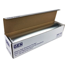 "GEN Heavy-Duty Aluminum Foil Roll, 18"" x 1,000 ft"