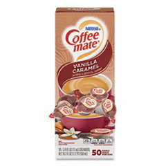Coffee mate® Liquid Coffee Creamer, Vanilla Caramel, 0.38 oz Mini Cups, 50/Box