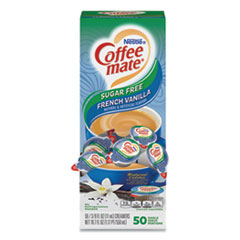 Coffee mate® Liquid Coffee Creamer, Sugar-Free French Vanilla, 0.38 oz Mini Cups, 50/Box