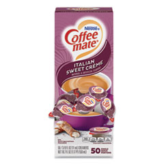 Coffee mate® Liquid Coffee Creamer, Italian Sweet Creme, 0.38 oz Mini Cups, 50/Box