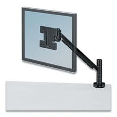 Fellowes® Designer Suites Flat Panel Monitor Arm, 180 Degree Rotation, 45 Degree Tilt, 360 Degree Pan, Black, Supports 20 lb