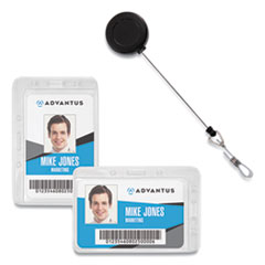 Advantus Antimicrobial ID & Security Badge and Reel Combo Pack